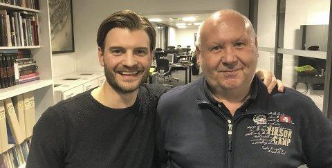 TURKAMPANJE: Stian Olbergsveen (til venstre) og Jan Elvestad i Østfold Bedriftsidrett satser nå på turkampanjen «Ti på topp». Foto: Vidar Henriksen