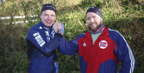 Tenker likt: Vegard Johnsen og Erik Barth ser stor nytte i et treningssamarbeid.Foto: Jan Westby