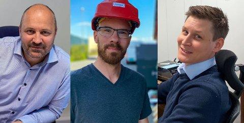 SELGER SELSKAPET: Anders Larsen, Roy Hestdahl og Martin Tøllefsen selger nå selskapet sitt Avarde til Mimir Bidco AS