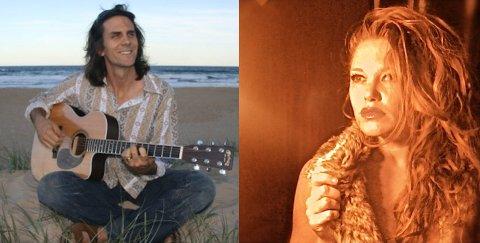 Jay Bishoff og Brigitte Jean Allen byr på intimkonsert i Westernbyen lørdag kveld (foto: Privat).