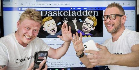 DASKELADDENE: Rolf Anders Martinsen og Tom Erik Sværen har populære sider på Facebook. Gruppa «Daskeladden» har 45 000 medlemmer i 86 land, de fleste er utflyttede nordmenn.