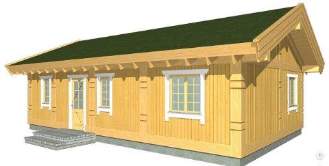 NYE HUS: Slik er fasaden på de planlagte boligene i Svullrya. Det første er allerede solgt og skal være klart i september.