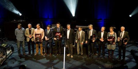 PRISVINNERNE: Det ble delt ut ialt åtte priser folk som har forsterket Lillehammers omdømme.