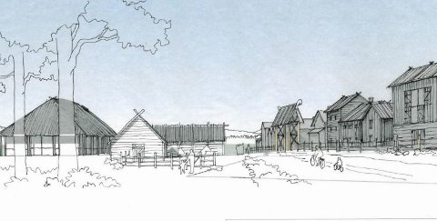 TILFREDS: Fylkesdirektøren i Hedmark er tilfreds med Ringsaker Almennings planer om «Birkeby» i Natrudstilen.