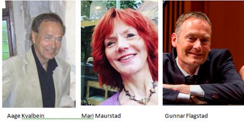 Aage Kvalbein, Mari Maurstad og Gunnar Flagstad.