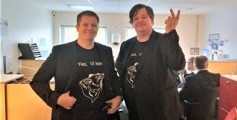STARTET FOLKEAKSJON: Rune Skansen og Thomas Strømstad har startet folkeaksjonen Yes! Vi ken, med det målet for øyet å bevare Viken fylkeskommune.