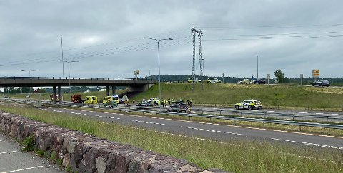 REAGERER: Lørdag ettermiddag skjedde det to separate ulykker ved Kopstadkrysset, begge i særgående løp.