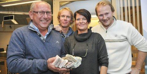Tellekorpset: Fra venstre Roger Randahl, Marius Schulze, Renate Kristiansen og Knut Jost Arntzen. Foto: Per Eckholdt