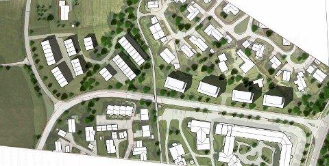 Ikke positive: Naboene i Haugerudbråtan på Tranby har ikke tatt imot boligplanene med åpne armer.