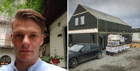 FÅR LOV ALLIKEVEL: Flertallet i Hovedutvalg for teknikk og plan (HTP) nektet Espen Etland å bygge ferdige familiens nye hus på Ås, men nå har det blitt flertall for å la ham fullføre prosjektet.