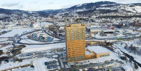 ENDRES: Kommunen har godkjent at arealet på den private takterrassen i Mjøstårnet reduseres med 100 kvadratmeter.