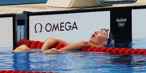 Henrik Christiansen svømmer 1500 meter-finalen i Rio de Janeiro lørdag kveld. Foto: Heiko Junge / NTB scanpix