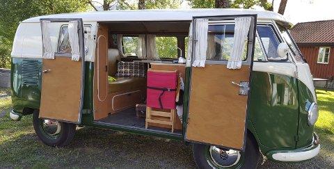 HOTELLROM PÅ FIRE HJUL: Westfalia produserte campingutstyr til Transporteren allerede fra tidlig 50-tallet.