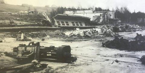 75 år siden: BMWs motorverksted ble bombet sønder og sammen, og blant all tysk eiendom ble rundt 100 flymotorer ødelagt. FOTO: kjeller flyhistoriske forening