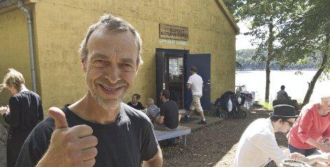 TOMMEL OPP: Helge Haugen er lettet over at Håøya Naturverksted har fått til en ny leieavtale med Oslo kommune. Arkivfoto: Henning Jønholdt