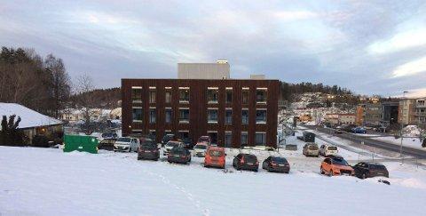 40 LEILIGHETER: Møylandsenteret, her sett fra Kodalveien, blir kommunens åttende bo- og servicesenter. Åtte av de 40 leilighetene er forbeholdt personer med demens.