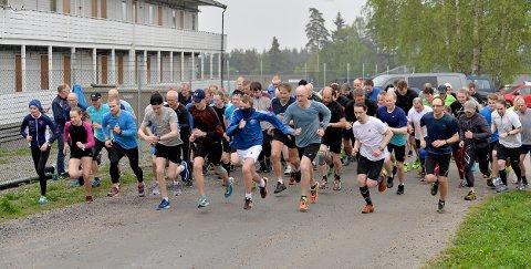 MANGE: Det var stor deltakelse i Torsdagsløpet denne uken. Foto: Privat