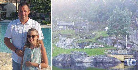 LÅNER UT HYTTA GRATIS: For fjerde året på rad låner Rune Osmundsen og datteren Kristina Dahl Osmundsen (11) ut hytta til familier som trenger et rimelig feriealternativ. (privat)