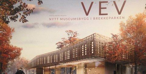 Vev: Byggets navn ble fra arkitektene døpt til VEV. Arkitektene har tegnet en stor trekrone, der materialet, fasaden og de store trærne i parken veves inn i hverandre, derav navnet VEV. Prosjektet kan være ferdigstilt i 2019.