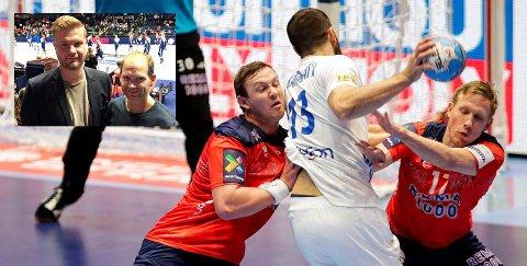 Amund Gjeitnes og Kjetil Gimnes fra KHK heiet fram Norge til seier mot Frankrike.