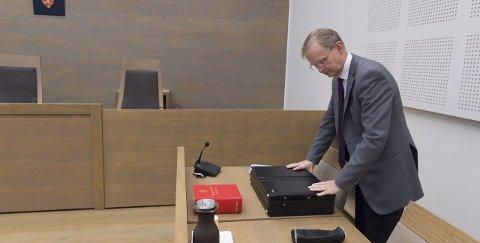 PROSESSFULLMEKTIG: Advokat Arne B. Krokeide representerer konkursboet etter Norgeshus EH Bolig. Her fra en tidligere anledning i retten. ARKIV