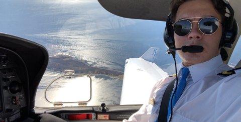 UHELDIG PILOT: Johan August Skatval var nyutdannet pilot og fikk fast jobb i SAS akkurat da kornapandemien stengte ned landet og det meste av flybransjen.