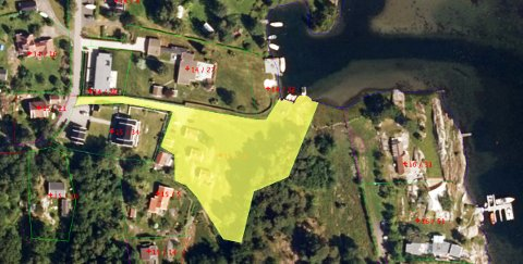 STOR EIENDOM: Den gamle typograftomta var 4,7 mål stor. Varner-familien eide fra før av tilgrensende eiendommer. Kart: seeiendom.no