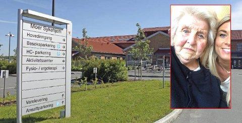 REAGERER: Siri Andreassen mener bestemoren (92) ikke får den behandlingen hun trenger på Moer sykehjem i Ås.