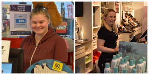 Jeanette Thorvaldsen (21) til høgre og Ingrid Nordanger (17) til venstre.