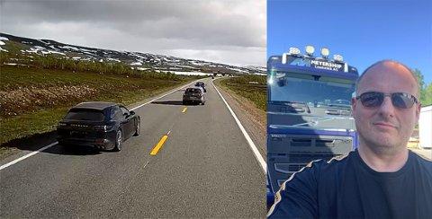 Farlige situasjoner: Michael Christiansen (55) har gjennom sommeren opplevd farlige situasjoner langs E6, og ved flere anledninger har han vært sikker på at han kom til å bli vitne til alvorlige  ulykker.