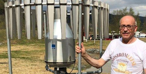 Tommy Edvardsen setter vanligvis varmerrekorder på Nordnes i Saltdal. I desember satte han nedbørsrekord - i positiv forstand.