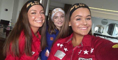 Erica Møvik (19), Maria Nordvik (19) og Synne Nordøy (19) er på plass i Stavanger.