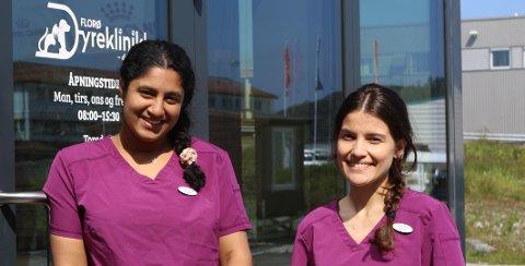 NYTT: For Afsana og Emilie er både jobben og byen ny, og dei gler seg begge to.