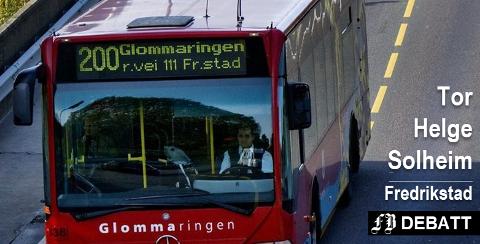 – Glommaringen hadde også sine mangler, men var et langt bedre tilbud enn det som er i dag, skriver Tor Helge Solheim som i det siste har brukt bilen til jobb en del fordi det har blitt mer tungvint med buss.