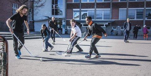 For alle: Trara-prosjektet, nå kalt idrett-skole-prosjektet etter utvidelse til to nye skoler, handler om å gi alle mulighet til å delta i fritidsaktiviteter etter skoletid. Bildet er fra 2015.