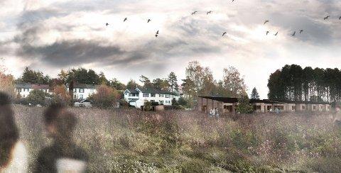 BOLIGER FOR UNGE: Her i Oldenborgila planlegger Fredrikstad kommune, sammen med Husbanken, pårørende og brukere, et boligprosjekt for sju unge personer med funksjonsnedsettelse.