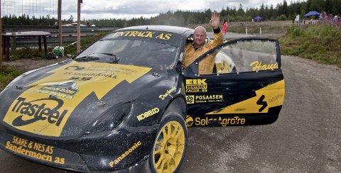 Knekker koden: Herbjørn Haug var godt fornøyd med 2. plassen i Klasse 4 under NM-runden i rallycross på Finnskogbanen. Åtte år var gått siden sist rallycross-sirkuset besøkte banen.bilder: erik mæhlum