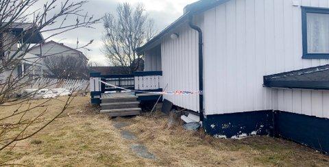 FUNNET DREPT: Gísli Þór Þórarinsson (40) ble funnet drept i dette huset lørdag morgen.