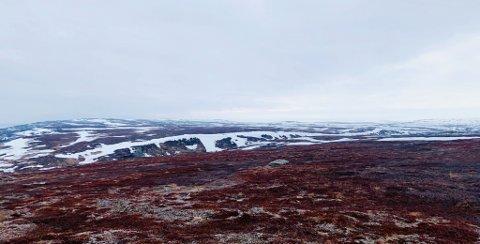 KULDE GRADER: Snøen og kuldegrader kommer tilbake i begynnelsen av mai. Bildet er tatt ved Thomaselvdalen.