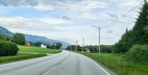 KONTROLL: I 60-sonen på Leines holdte UP trafikkontroll tirsdag.