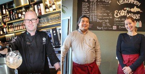 KAN SMILE ETTER KONTROLL: Patrik Schöning på Tio, og Wen Tsair Trang og Silje Asserson på Evita House.