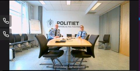 John Ola Volden og politiadvokat Bente Bøklepp under onsdagens pressekonferanse.