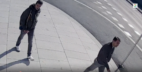 TIPS: Har du sett disse to mennene? Da vil Politiet i Oslo komme i kontakt med deg. Dette bildet fra et overvåkningskamera på Nordstrand 18. september i år.