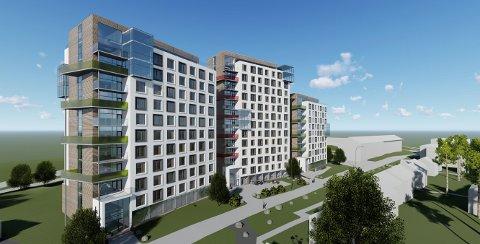 PÅ KALLERUD: Slik presenteres de planlagte studentboligene på Kallerud. Tre høyhus kan gi opptil 420 nye studenthybler.