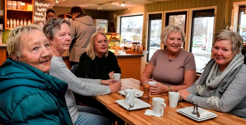 ENGASJERT: - Det er klart rådmannsaken engasjerer folk, sier f.v. Solveig Oppegård, Liv Olsby, Mona Bech, Solvor Smedshammer og Turid Oppegård på Lena.