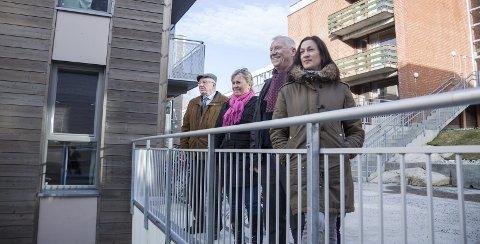 Bærer frukter: Arne Hillestad, Anne Kristine Linnestad, Egil Ørbeck og Eline Borger Rognli (f.v.) mener samarbeidet mellom de borgerlige partiene bærer frukter, og er fornøyde med tildelingen av 40 millioner til SiÅs. KrFs representant ble hindret fra å stille til intervju.FOTO: Eskild Gausemel Berge