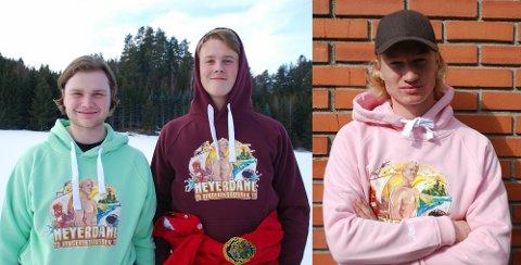 Peder Moi Alme (18), Tor Jørgen Kittilsland (18) og Olav Engen (18) er medlemmer av russebussen i Hønefoss.