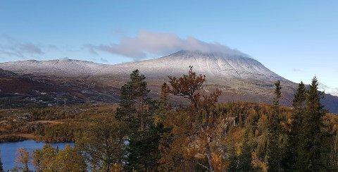 VINTER-PRAKT: Gaustatoppen har satt ny sesongrekord for snø etter at ekstremvære Knud fór over toppen av Telemark.