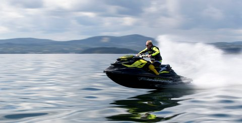 - Vi vil bevare kysten som en rekreasjonsarena, ikke som en motorsportarena. Foto: Torstein Bøe / NTB scanpix