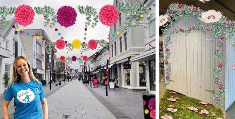 Sandnes sentrum har store planer for sommeren. Blomster blir gjennomgangstema i Langgata.